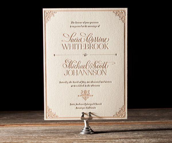 Wedding Wisdom - Crafting The Perfectly Worded Wedding Invitation - formal invitation style