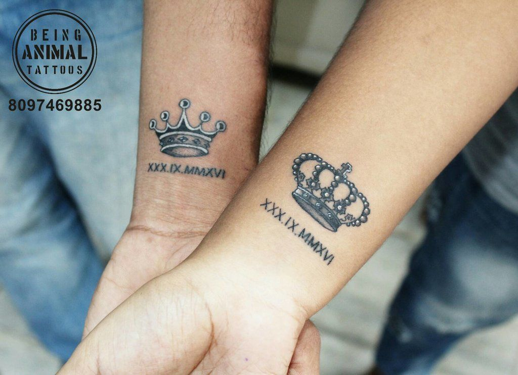 His Hers Crown Tattoos Couple Tattoos Matching Couple Tattoos Tattoos Bebe bapu tattoo hd wallpaper