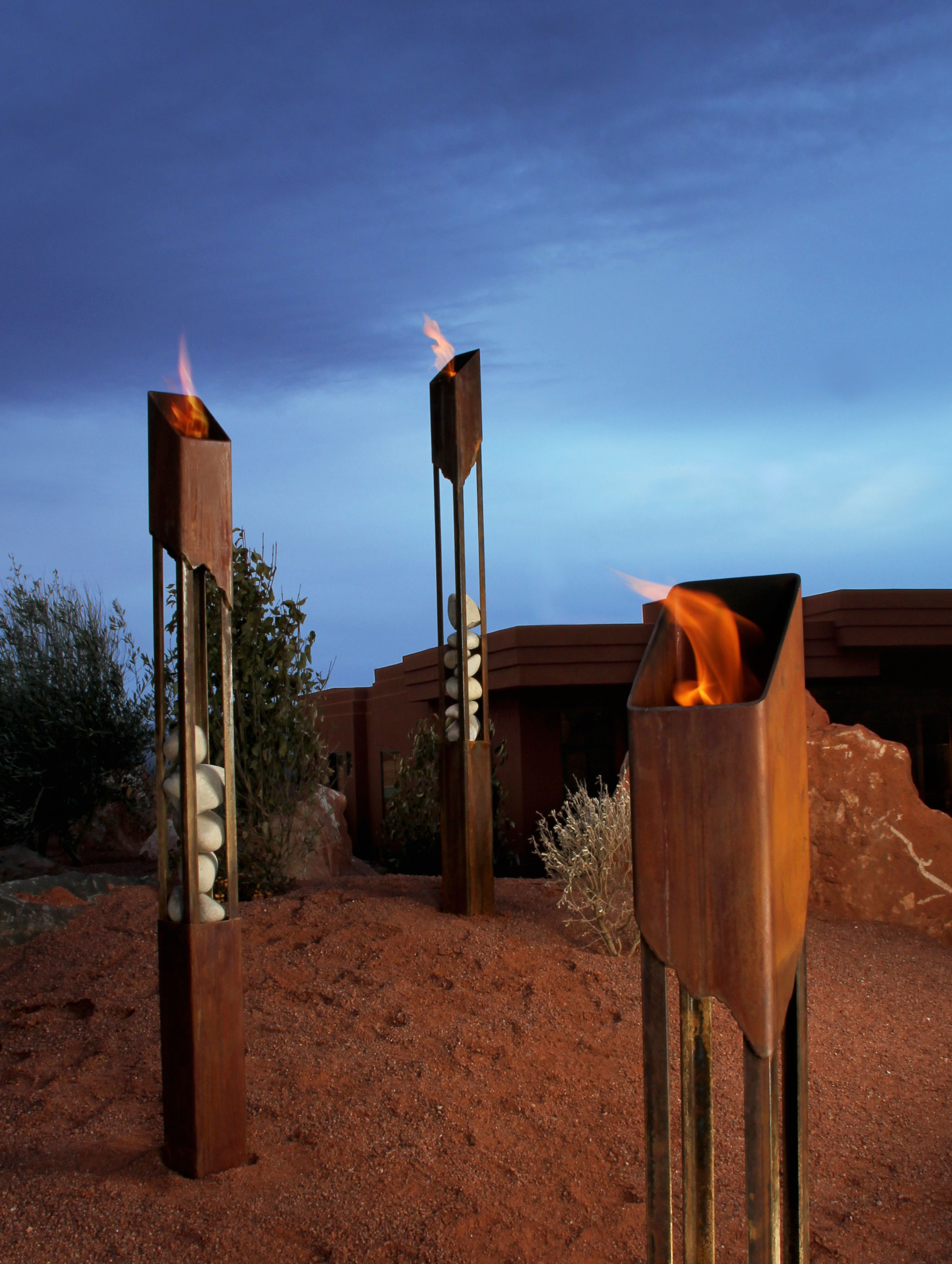 Awesome Elements Fire Torch, Large   Modern   Outdoor Products   Terra Flame Home