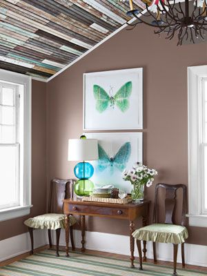 Living in a Colorful, Quirky Home Ceilings, Country living and