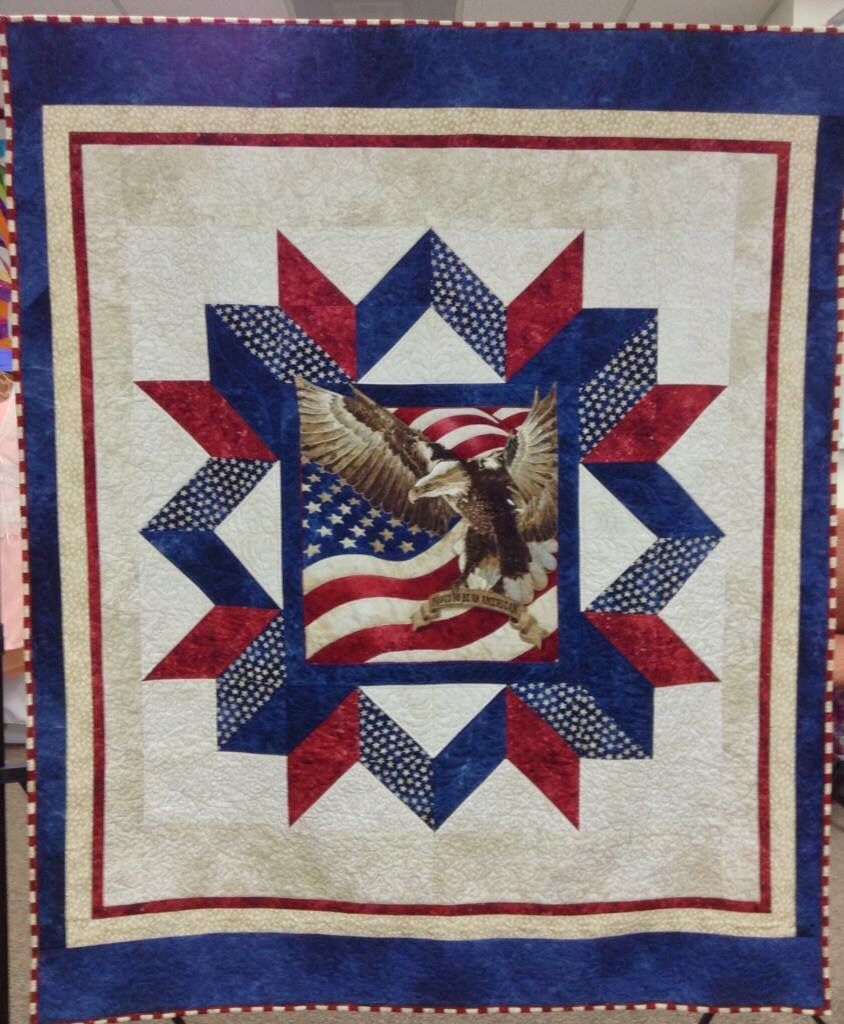 American Pride Quilt Of Valor Pattern Available Through Craftsy