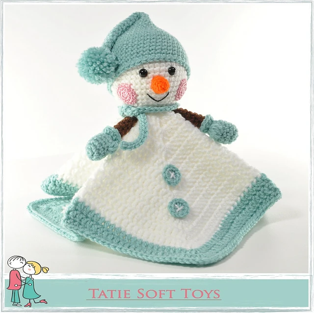 Snowman Lovey Security Blanket Comforter Snuggle #securityblankets