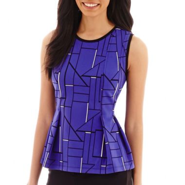 2e5141fb6d159d Worthington® Pleated Peplum Top - Tall found at @JCPenney ...