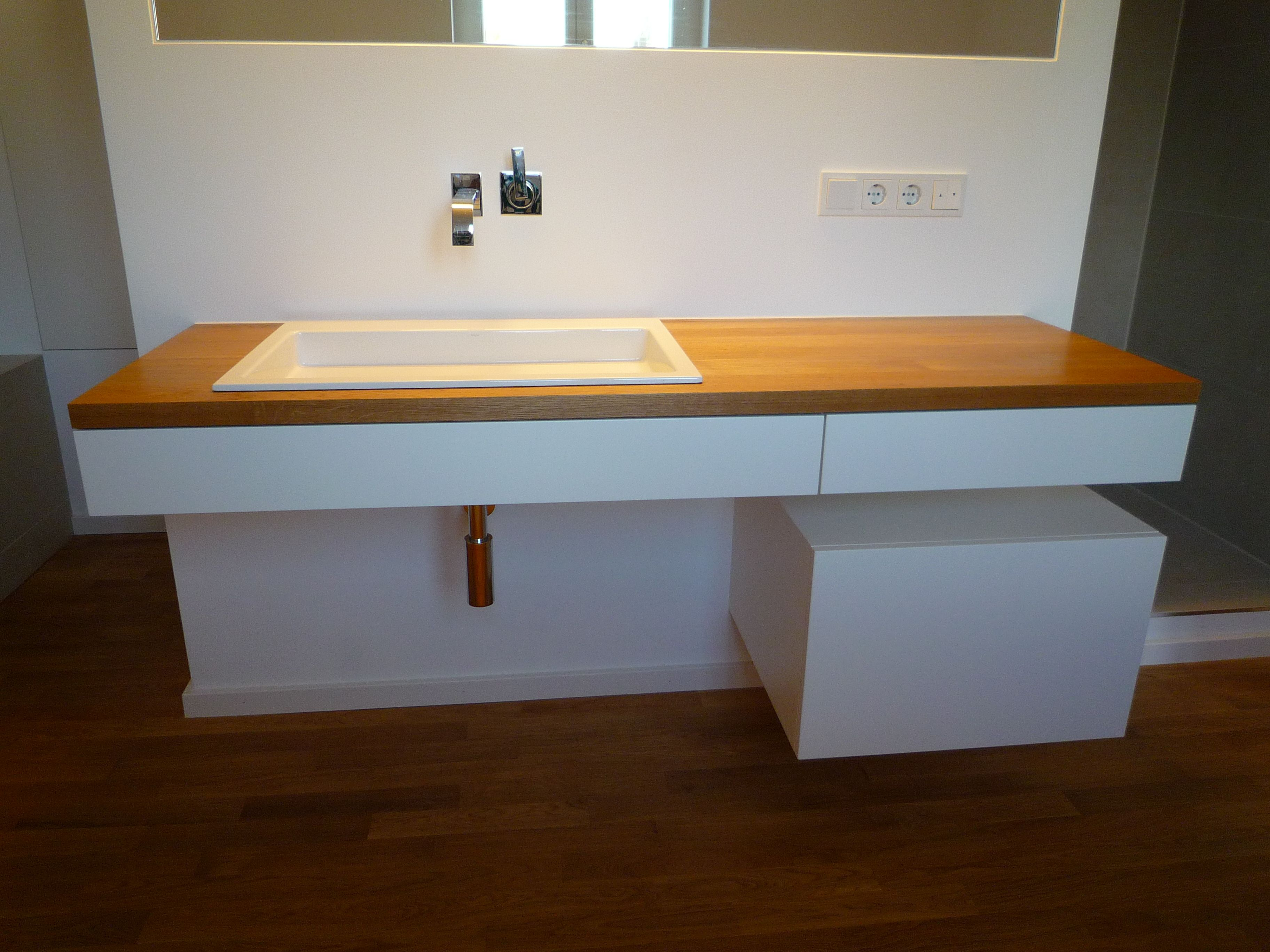 Badezimmer waschtisch ~ Waschtisch mit eichenplatte bad waschtisch und bäder