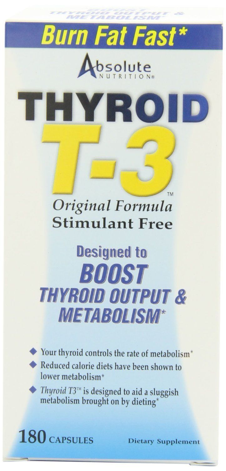 Details about Absolute Nutrition Thyroid T-3 - 60 Capsules