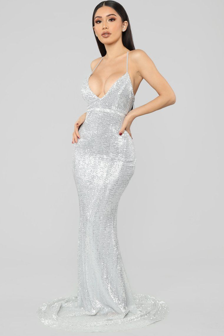 bc9773c2f0f Are You Feeling Me Sequin Gown - Silver in 2019 | Glorious | Fashion ...