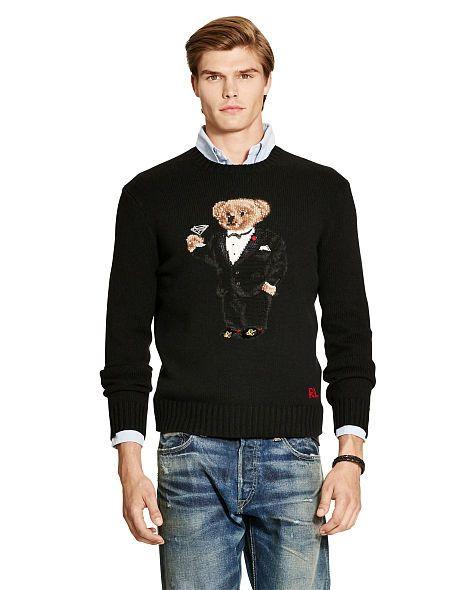 b64978b7964 Tuxedo Bear Wool-Blend Sweater - Polo Ralph Lauren Crewneck - RalphLauren .com