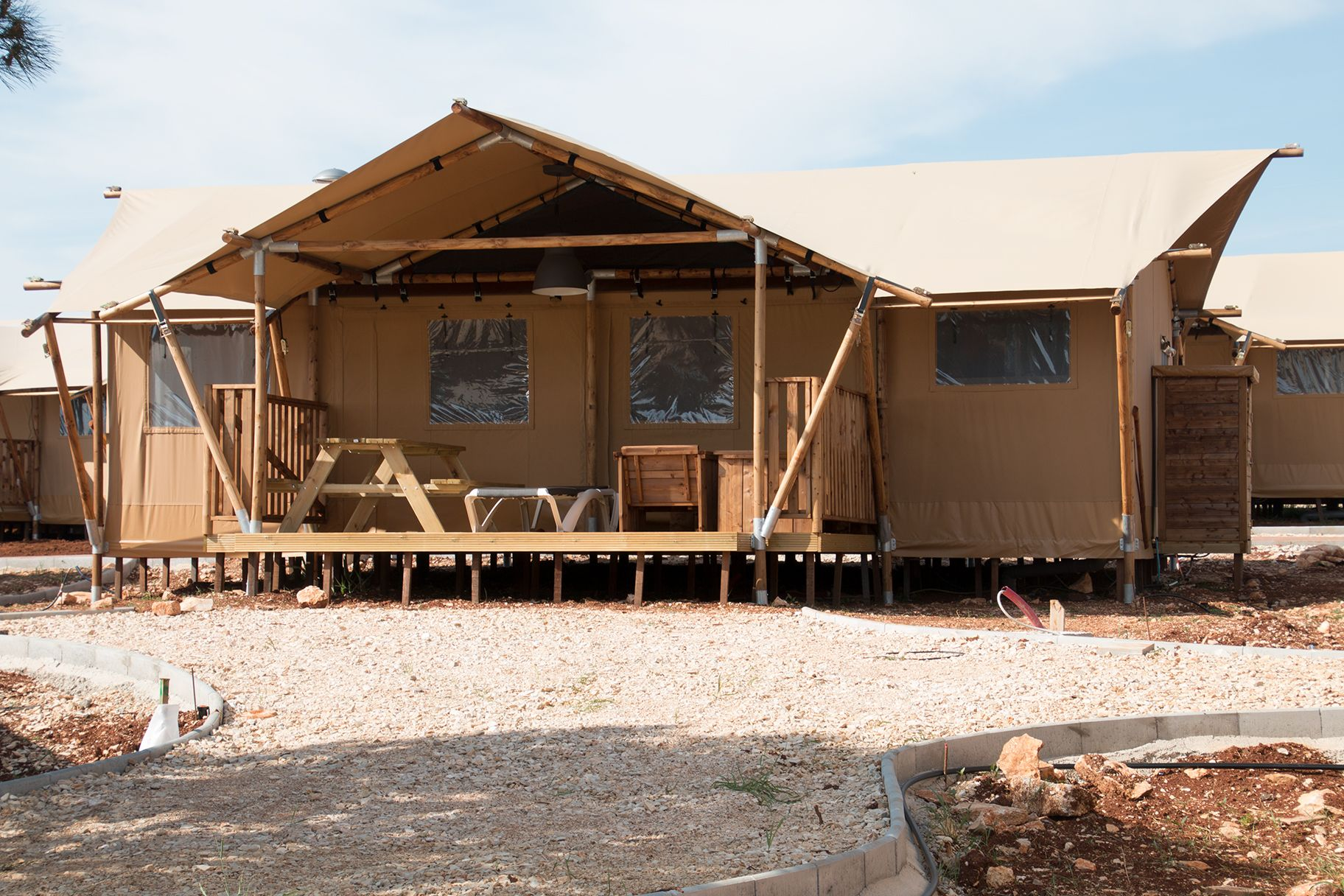 Luxury Lodge Camping Umag Kroatie Glamping, Vakantie, Tent