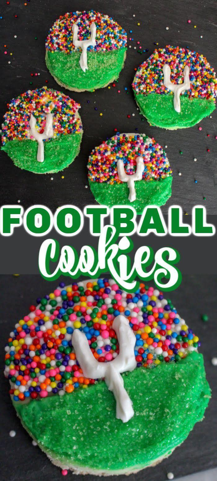 Cookies Football sugar cookies  Stadium cookies  Easy football cookies  Decorated cookies  Sugar cookies  Superbowl snacks  Desserts  Iced Cookies  Easy football foods  S...