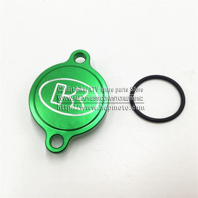 Green CNC Billet Engine Oil Filter Cover For Kawasaki KX250F KX 250F KXF250 2004-2015 MX spare parts dirt pit bike Motorcross #Affiliate