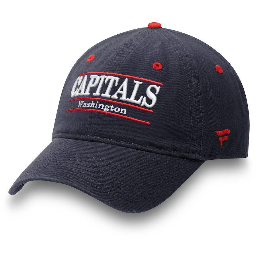 Men s Washington Capitals Fanatics Branded Navy Primary Bar Adjustable Hat 0547667ca89