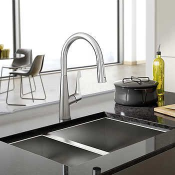 Hansgrohe Cento Kitchen Faucet In Steel Optik Amp Chrome