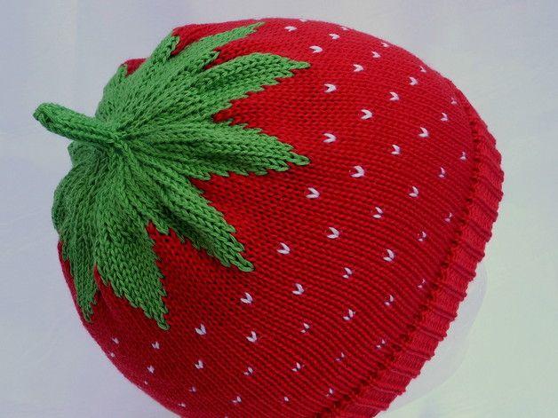 Erdbeermütze Rotgr48 52cm Móc Len Pinterest Baby Hats Kids