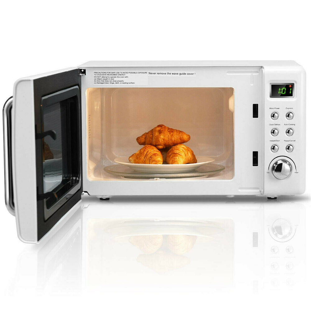 Details About Retro Countertop Microwave Oven 0 7 Cu Ft 700 W