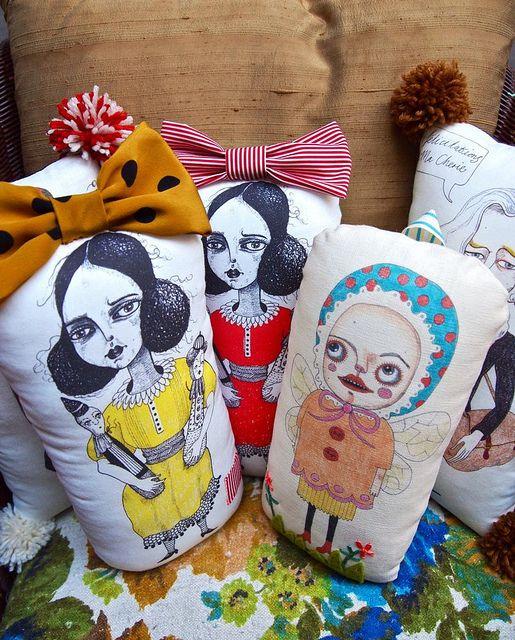 Printed pillow dolls