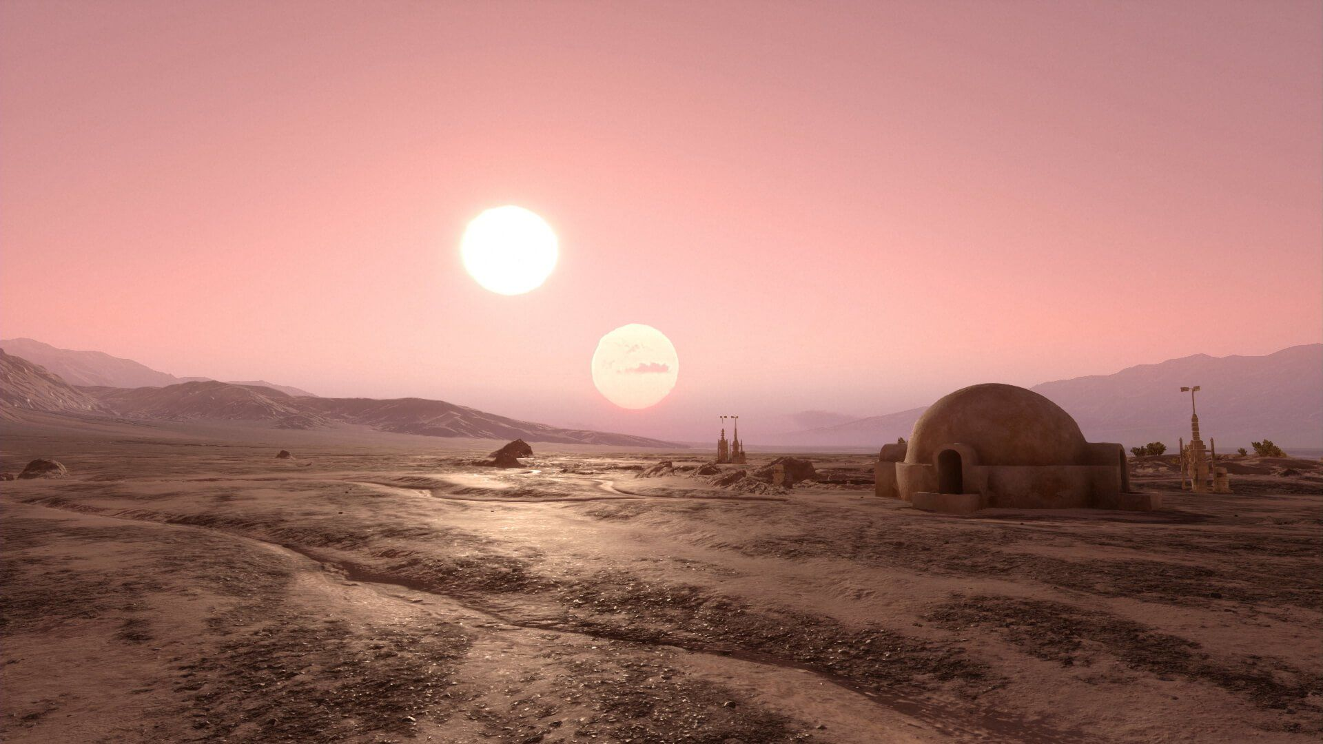 Millennium Falcon Over Tatooine wallpapers Star wars
