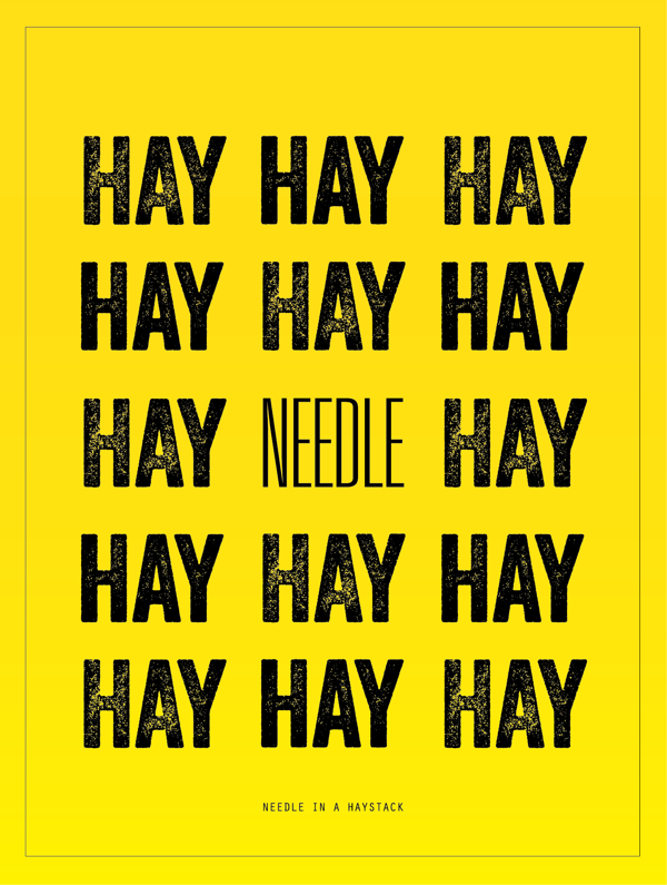 Needle In A Haystack A Thing That S Very Difficult To Find
