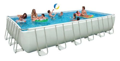 """Intex 15' x 48"""" Ultra Frame Above Ground Pool with Filter"""
