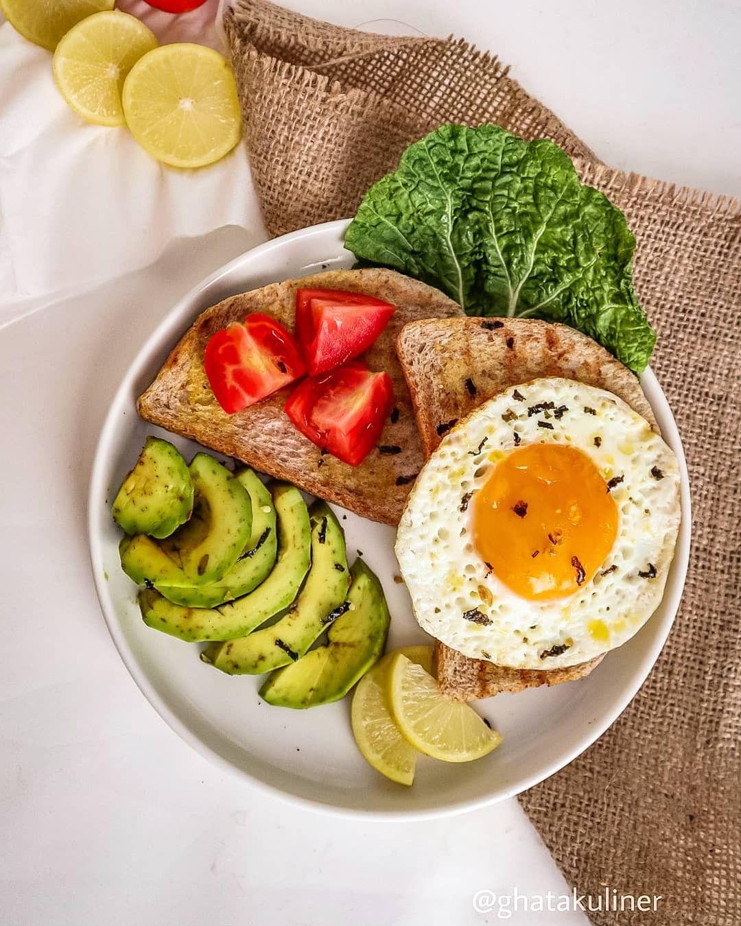 Avocado Egg Toast Alpukat Sarapan Sarapan Sehat