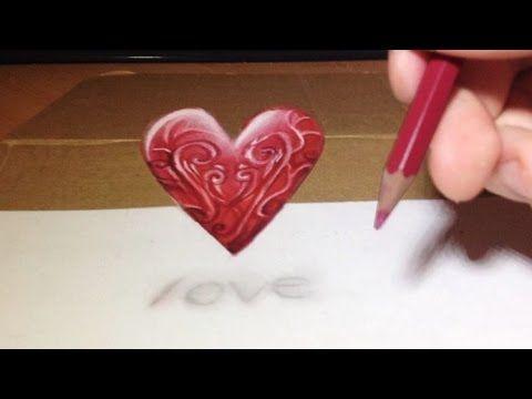 comment dessiner un cœur 3d tutoriel youtube 3d drawings drawings 3d art drawing comment dessiner un cœur 3d tutoriel