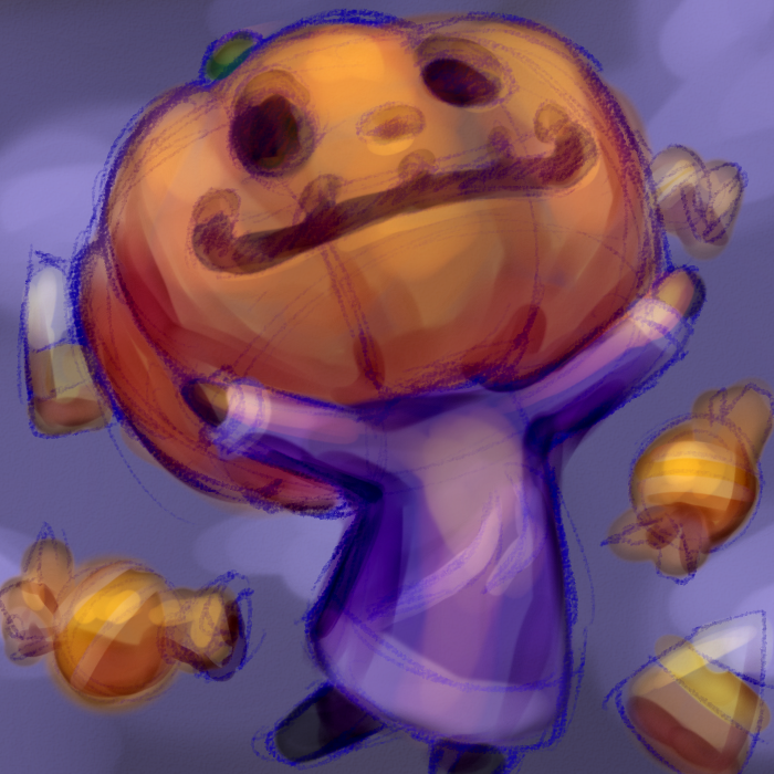 Jack and his candy Animal crossing fan art, Animal