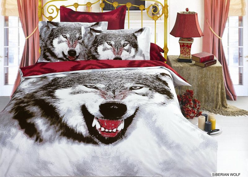 Arya Siberian Wolf Queen Bedding Snow Dog Treasures And