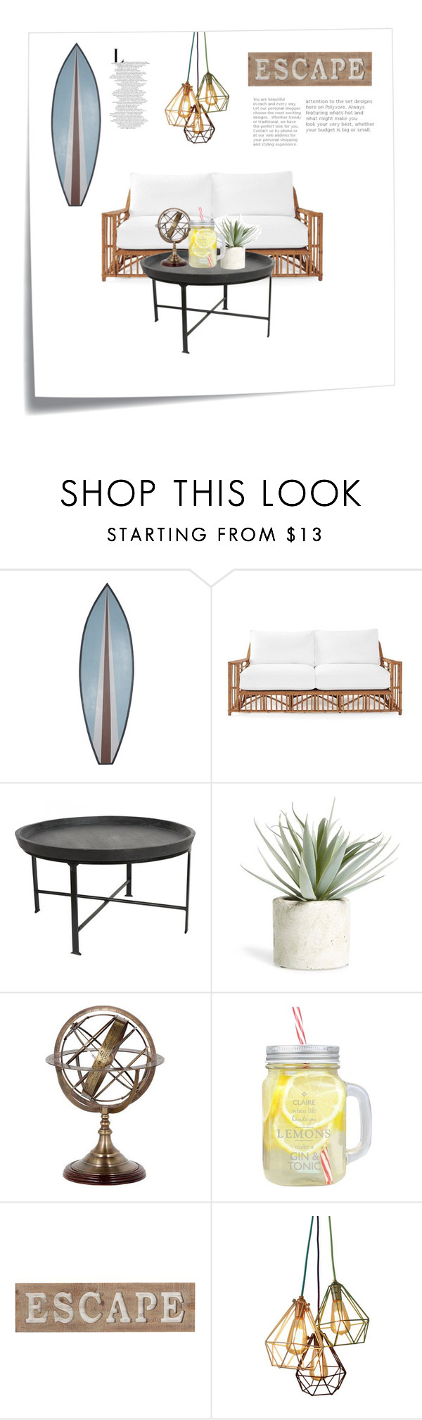 """""""Untitled #86"""" by emtank15 ❤ liked on Polyvore featuring Post-It, Serena & Lily, Allstate Floral, Eichholtz and Pier 1 Imports"""