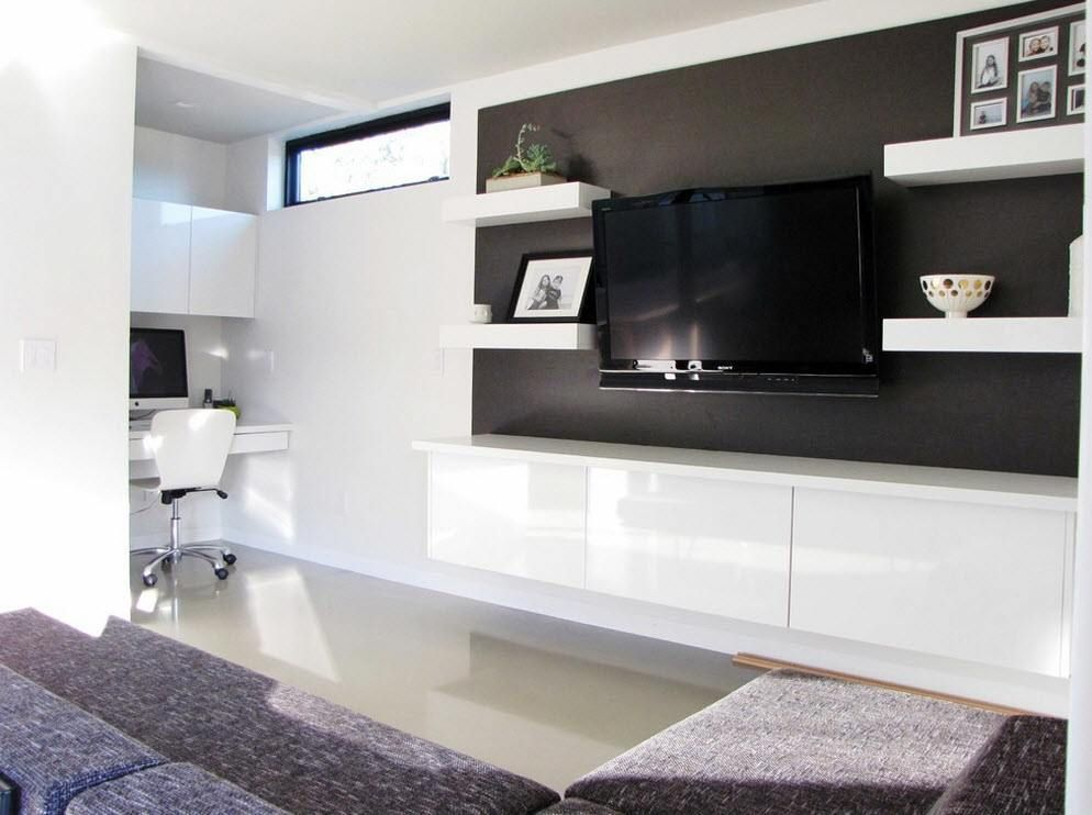 Interesting creative wall mount TV design ideas How to decorating