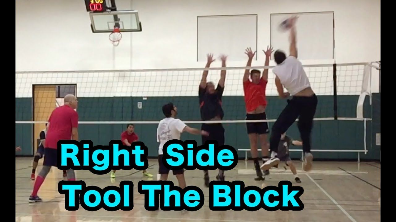 Tool The Block As Right Side Hitter Volleyball Tutorial Pallavolo