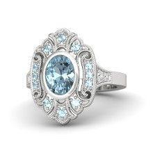 Oval cut aquamarine