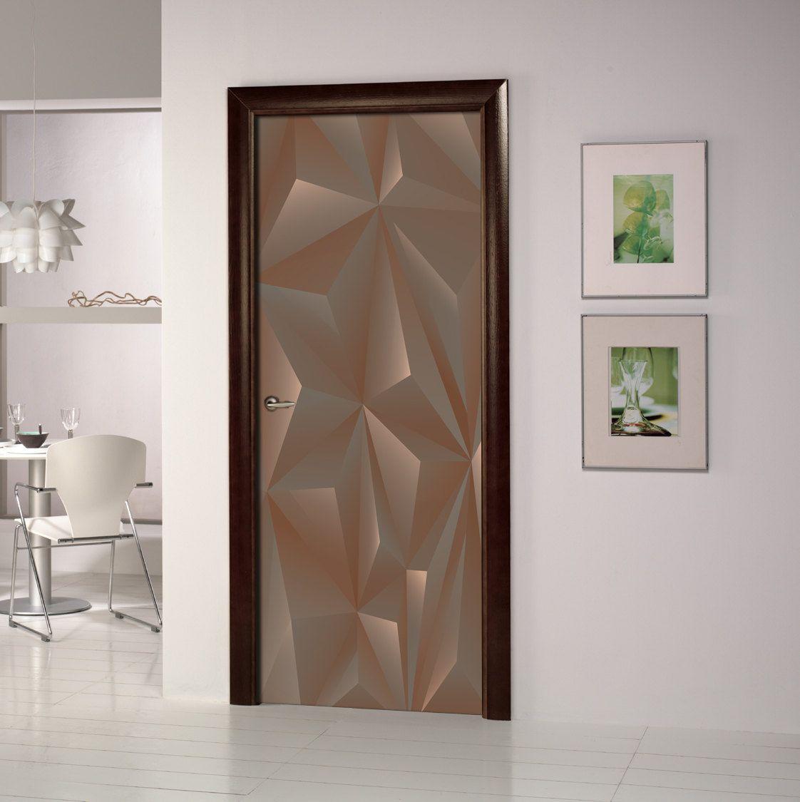 Door wall sticker - 3D Self-Adhesive Vinyl Mural - Self Adhesive Peel &  Stick