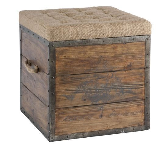 How To Make A Rustic Ottoman Google Search Storage Stool