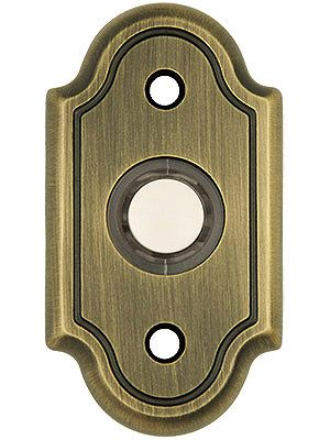 Traditional Arch Design Brass Door Bell Button In Stamped Brass Brass Door Doorbell Antique Hardware