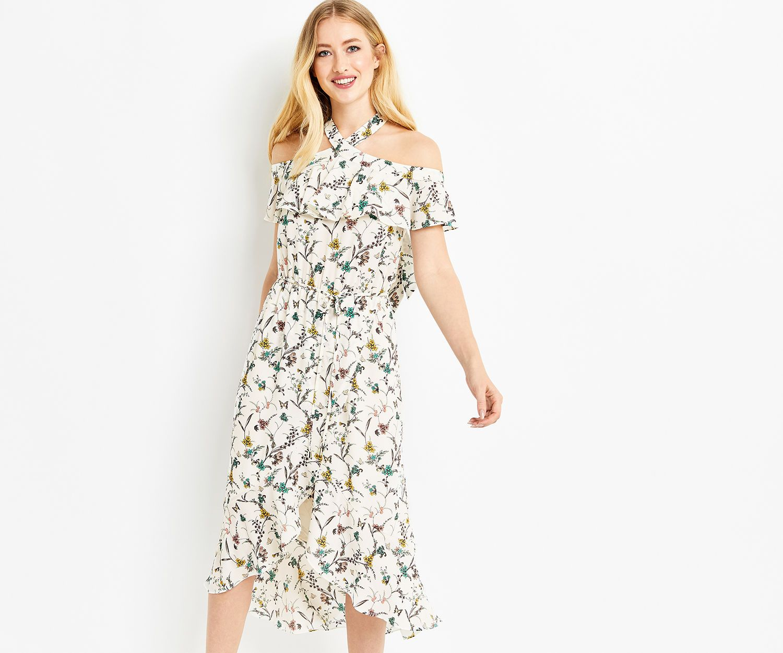 385934fc9426 Oasis, FLOUNCE MIDI DRESS Multi | OASIS | Dresses, Oasis dress ...