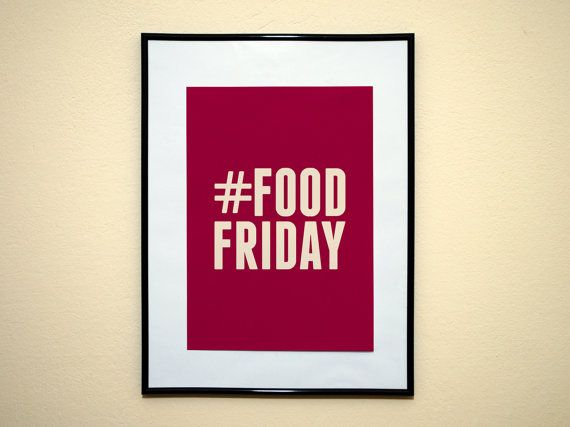 Hashtag Food Friday Instagram Social Media by EverythingHashtag, $8.99