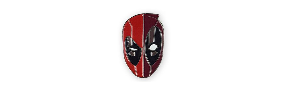 Deadpool Enamel Pin. Designed by Tom Whalen. $10
