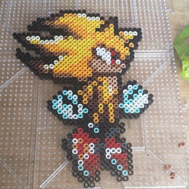 Sonic Perler Beads By Thenerdygirlcrafter Perler Bead Designs