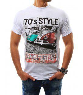 90bc06383db3 Biele pánske tričko s potlačou