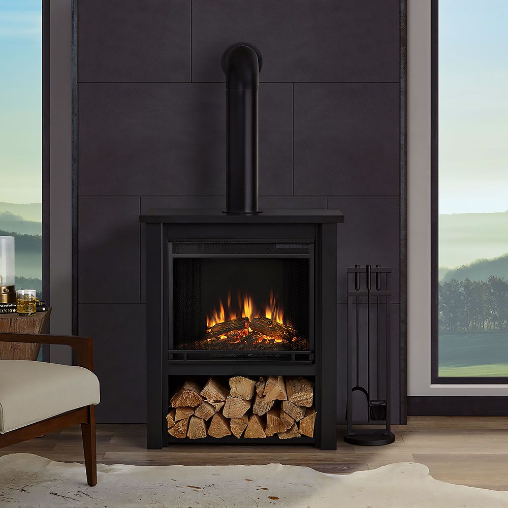 Hollis Electric Fireplace In Matte Black 5005e Bk Indoor Electric Fireplace Free Standing Electric Fireplace Ventless Fireplace