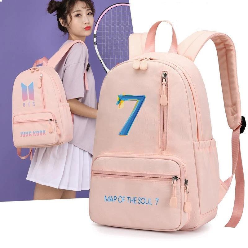 Bts Map Of The Soul 7 Backpack Kpop Merch Shop Bts Merch Kpop Fashion Merchandise Shop Pink Backpack Stylish Backpacks Bts Bag