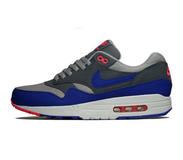 newest f6e13 f2c08  Nike Air Max 1 Essential-Medium Grey-Ultramarine-Dark Grey  sneakers  kicks