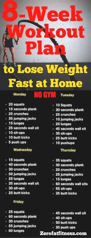 #Diätplan 8-Week Workout Plan to Lose Weight Fast at Home with No Gym