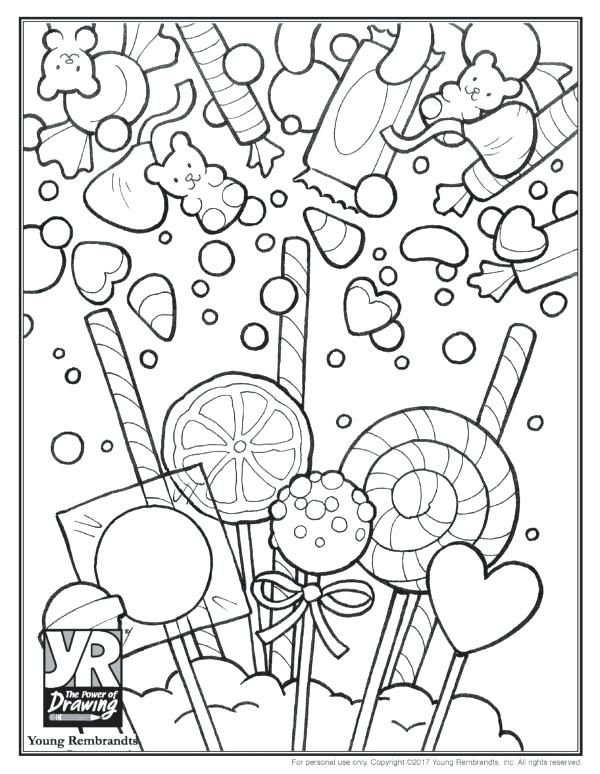 Candy Coloring Page Candy Coloring Page Sugar Skull
