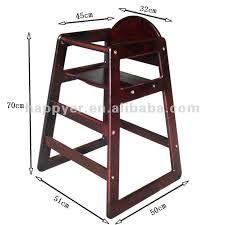 Resultado de imagen para silla de comer de madera para for Medidas sillas ninos