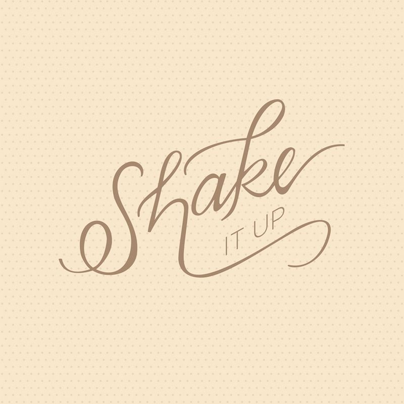 Hand Lettered Typography Art Combining Names Of Kitchen Tools With