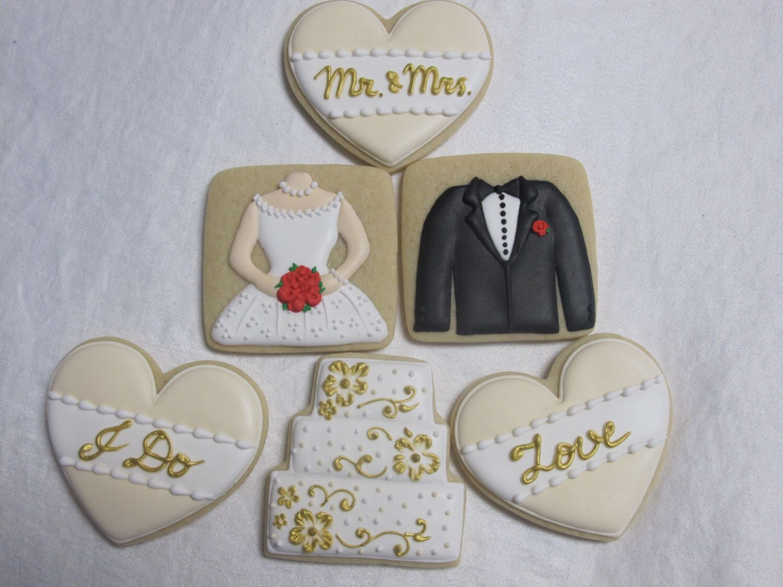 Wedding Cookies Collection #1 - Bride and Groom, Wedding Cake ...