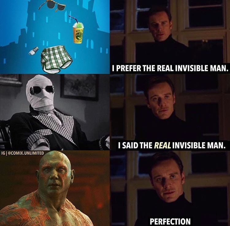 Infinity War Drax Invisible Meme Marvel Funny Marvel Jokes Infinity War Memes