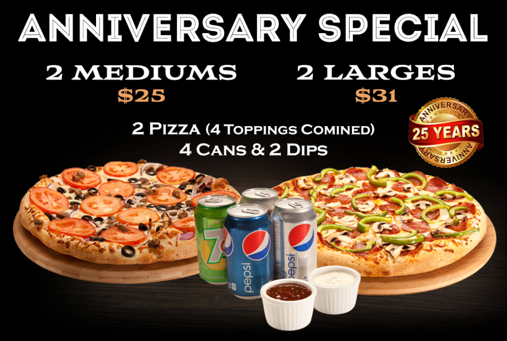 1 For 1 Pizza Has Proudly Served The Ottawa And Gatineau Region For Over 25 Years And Offers The Incredible Anniversary Halal Recipes Gourmet Pizza Good Pizza