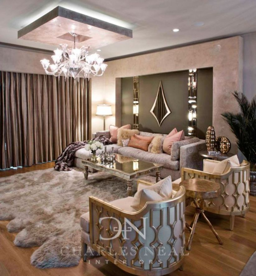 Nice 43 Modern Glam Living Room Decorating Ideas More At Https Decoratrend Com 2018 07 16 Luxury Living Room Design Modern Glam Living Room Glam Living Room