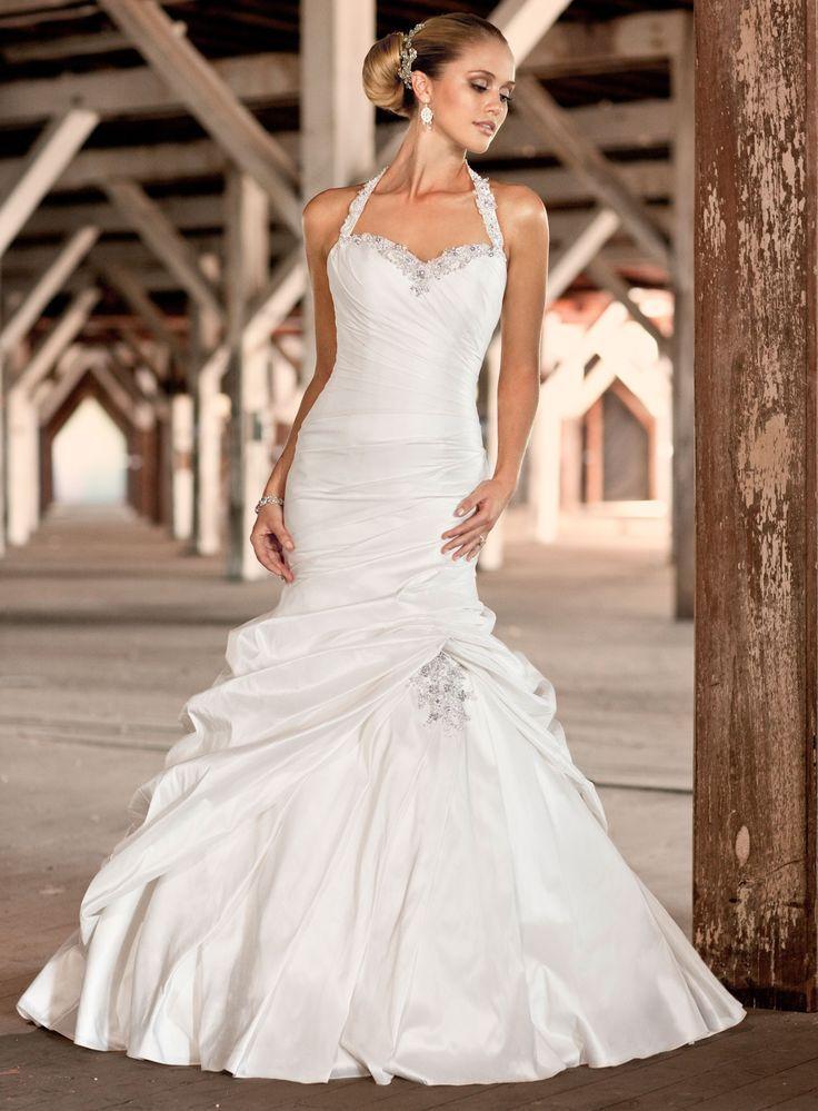 Wedding Dresses Sydney French Mikado Mermaid Halter Sweetheart Dress